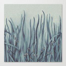 Green-Blue Grass Canvas Print