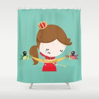 queen Shower Curtains featuring QUEEN by Alfonso Cervantes