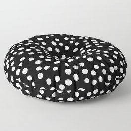 Black and white doodle dots Floor Pillow