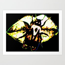 The Bee Word Art Print