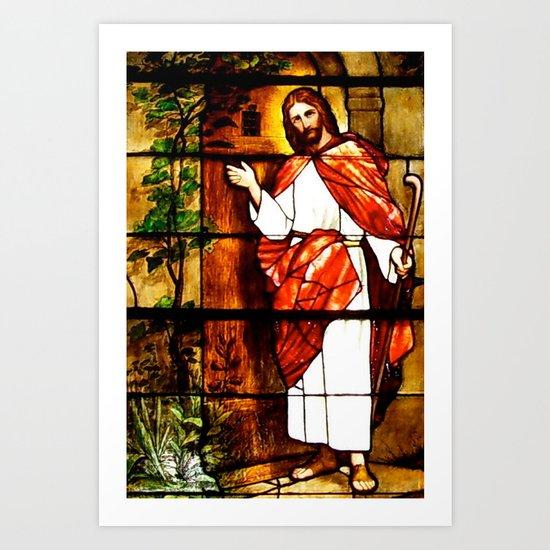 "Jesus knocks at ""The Door"" Art Print"