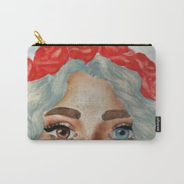 'Girl With Flower Crown' Carry-All Pouch