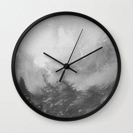 Mountain Views b/w Wall Clock