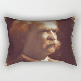Mark Twain, Literary Legend Rectangular Pillow