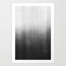 BLUR / abyss / black Art Print