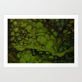 In green pace Art Print