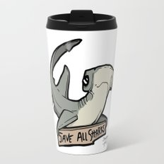 Save All Sharks (says Bonnie!) Travel Mug