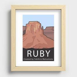 Ruby Programming Landscape poster Recessed Framed Print