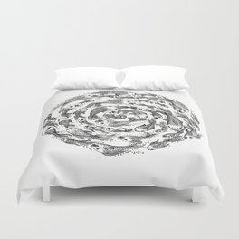 swimming in circles Duvet Cover