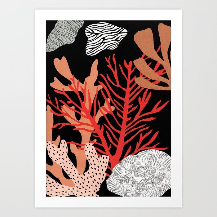 Corail Art Print
