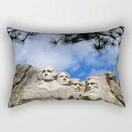 Mount Rushmore Rectangular Pillow