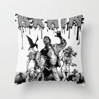 brain Throw Pillows featuring Brain by Christian G. Marra