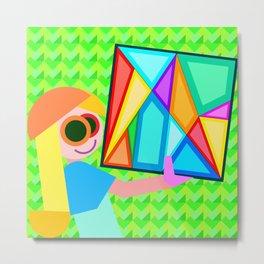 Geometric Girl, the Joy Metal Print
