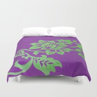 floral pattern Duvet Covers featuring Floral Pattern by Marjolein