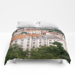 Prague Rooftops Comforters