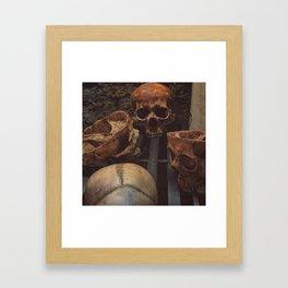 Catacomb Culture - Human Skull Basement Framed Art Print