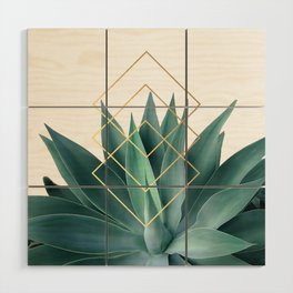 Agave geometrics Wood Wall Art