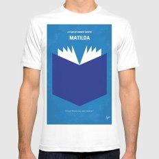 No291 My Matilda minimal movie poster Mens Fitted Tee White MEDIUM