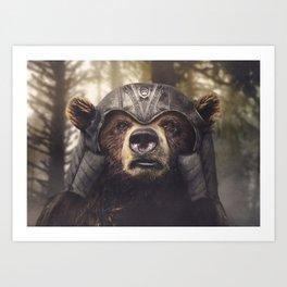 Armored Bear Companion Art Print