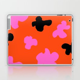 Grell 003 / A Dazzling 70's Pattern Of Black & Pink Spots Laptop & iPad Skin