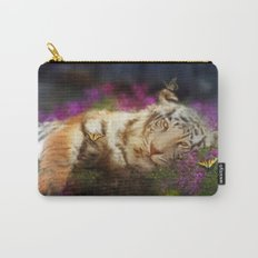 Tiger and Butterfly Carry-All Pouch