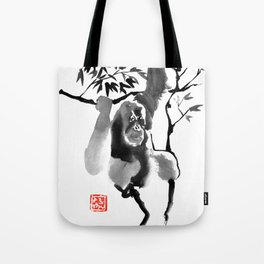 orangutan in tree 01 Tote Bag