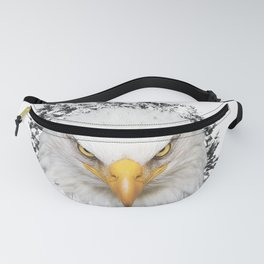 Big bald eagle in the mountains Fanny Pack