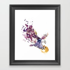 Eagle Swoop Framed Art Print