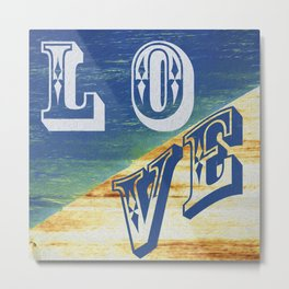 LOVE Abstract Metal Print