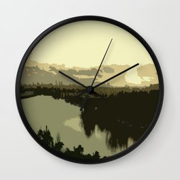Miami Sunrise Abstract Wall Clock
