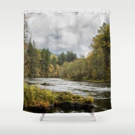 Fall on the McKenzie River Shower Curtain