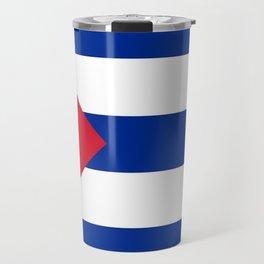 Flag of Cuba -cuban,havana, guevara,che,castro,tropical,central america,spanish,latine Travel Mug