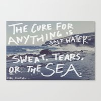 salt water Canvas Prints featuring Salt Water by Leah Flores