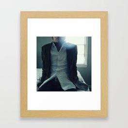 so i wait Framed Art Print
