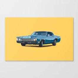 Vintage car solid colour Canvas Print