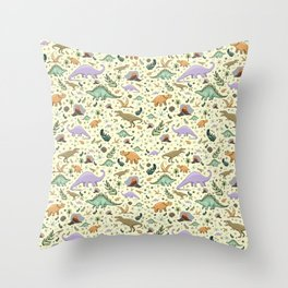 Cute Dinosaurs Throw Pillow