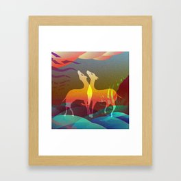Space of Non-Duality Framed Art Print
