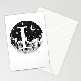 Midnight L Stationery Cards
