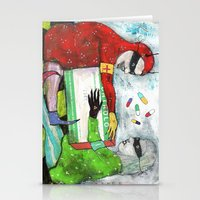 pills Stationery Cards featuring Pills by Franck Chartron