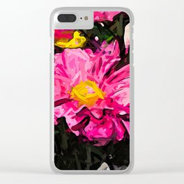 The Pink and Yellow Flower 4 Clear iPhone Case