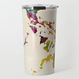 Philippines Watercolor Map Travel Mug