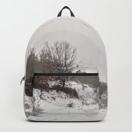 Snow forest fading Backpack