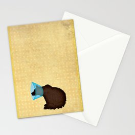 Cone of Shame Bear Stationery Cards