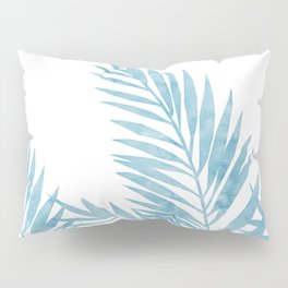 Palm Leaves Light Blue Pillow Sham