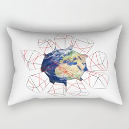 Wrapped to a Warped World Rectangular Pillow
