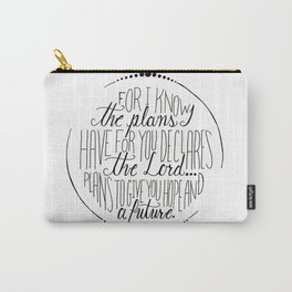Hand Written Typography of Jeremiah 29:11 Carry-All Pouch
