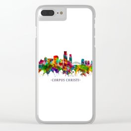 Corpus Christi Texas Skyline Clear iPhone Case