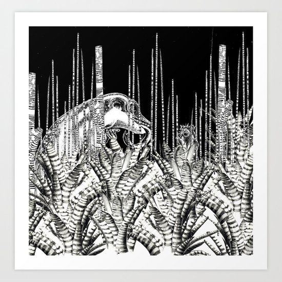 Camouflage II in Uzu Jungle Art Print