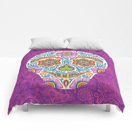 Flower Power Skully Comforters