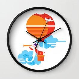 Scientist traveler Wall Clock